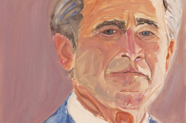 george w bush unveils his oil paintings of world leaders