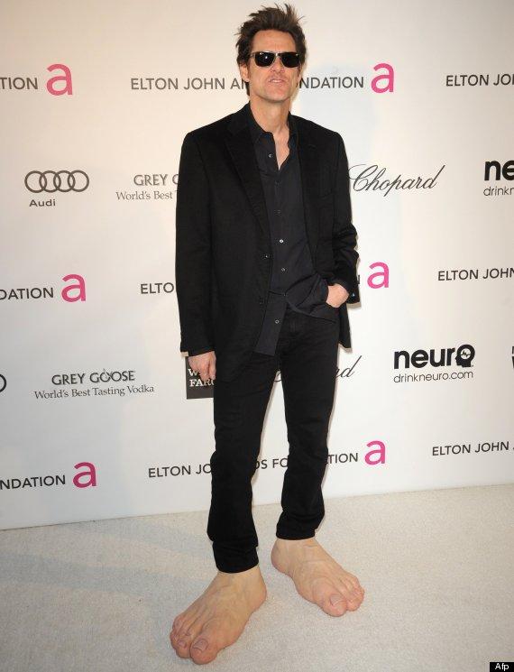 Jim Carrey Oscar 2013 Los enormes pie...