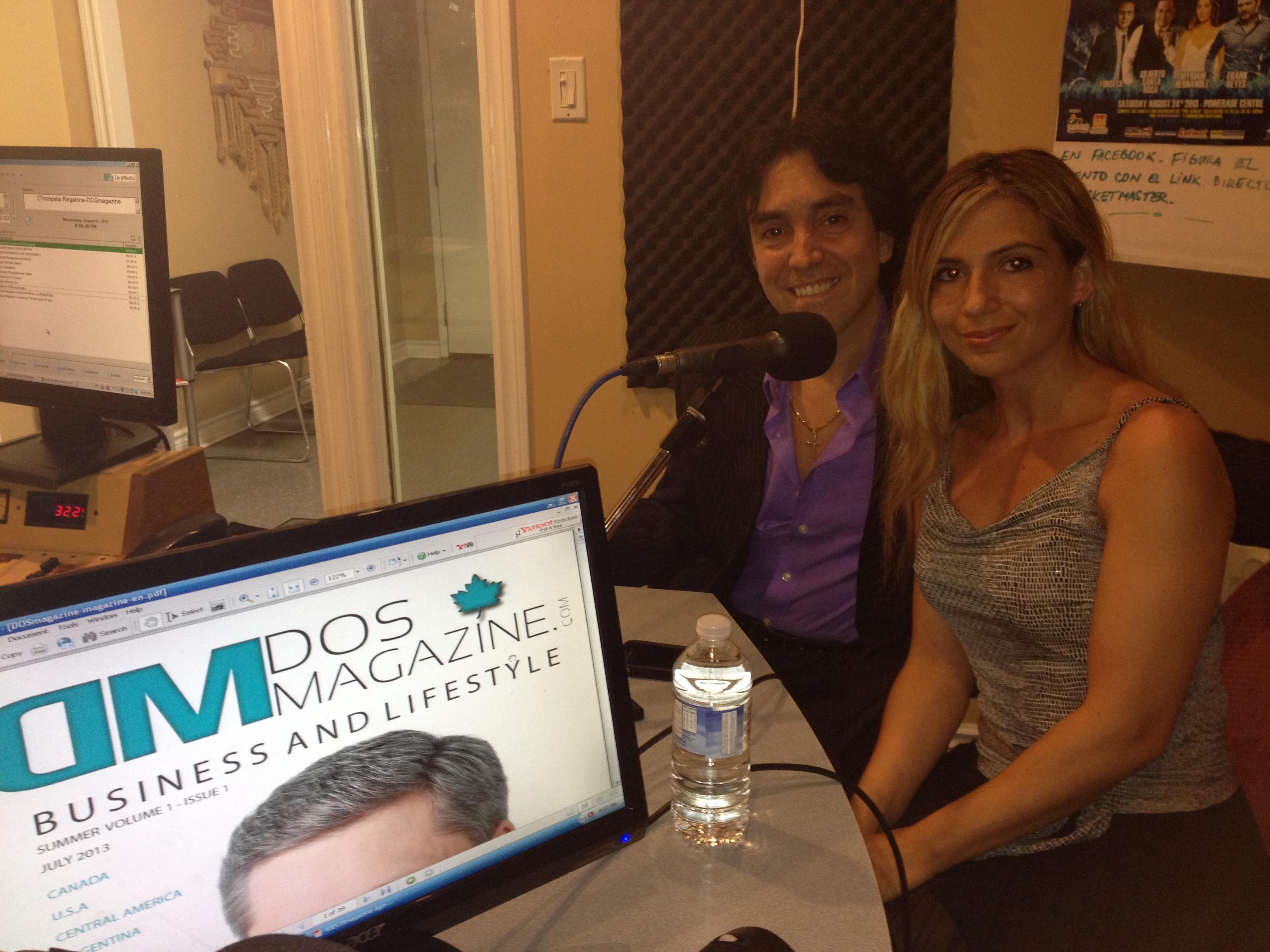 Roxana y Fabian Belmonte quienes estan en vivo en nuestra cabina, con el tema: Tango de Oro