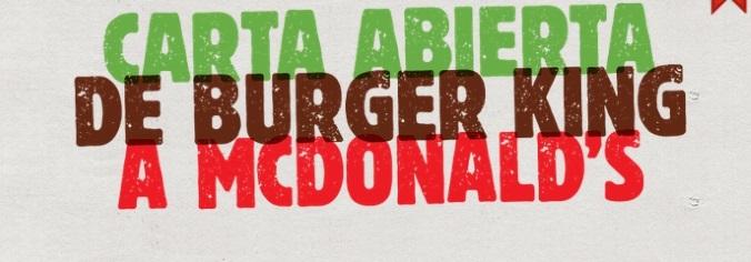 Burger King propone a McDonald's una McWhopper