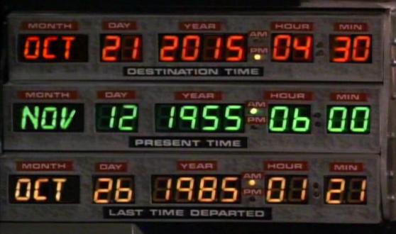 Marty McFly llega el 21 de octubre de su viaje en el tiempo