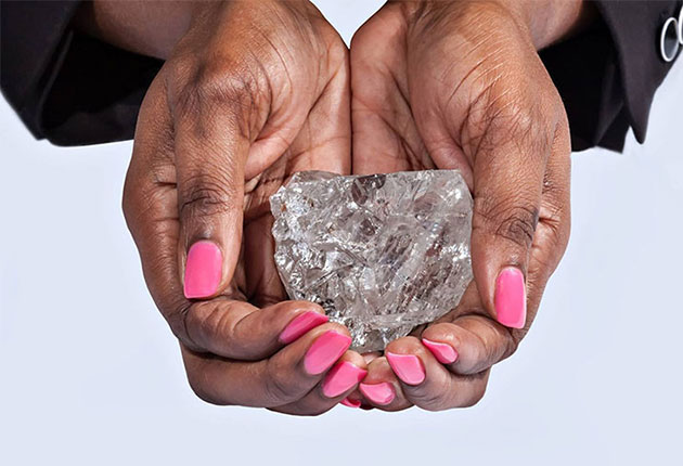 El segundo diamante más grande del mundo en Botswana
